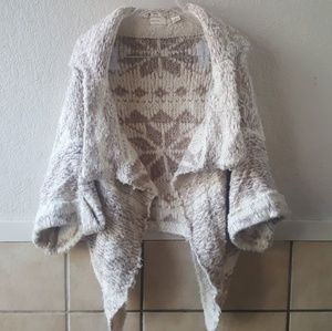 Sleeping on snow  wool blend shrug m/l EUC